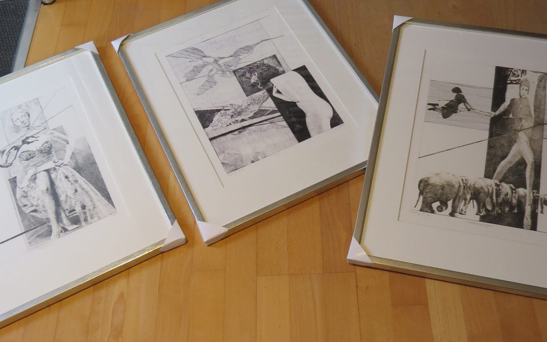 Etchings for exhibition